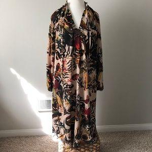 NWT H&M Long Sleeve Patterned Midi Dress